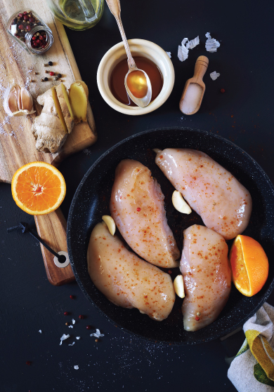Chicken with Raw Honey